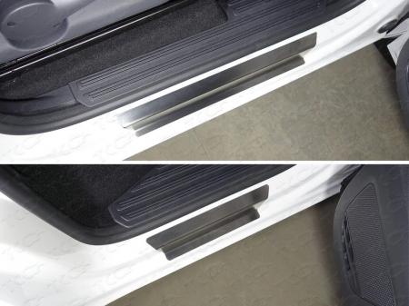 Volkswagen Amarok 2016-Накладки на пороги (лист шлифованный)